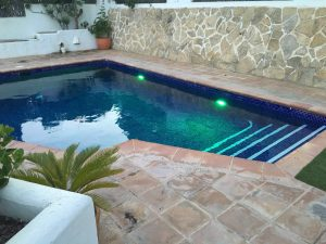 Pool with lights Javea